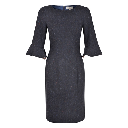 Navy Salt & Pepper Martha Dress  - Click to view a larger image