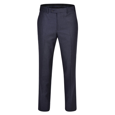 Navy Flannel Classic Fit Trousers  - Click to view a larger image