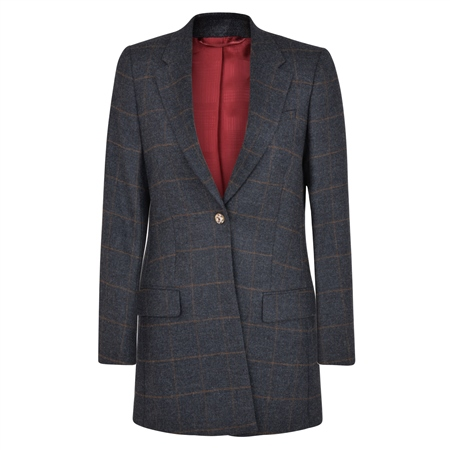 Grey Moyne Checked Donegal Tweed Jacket  - Click to view a larger image
