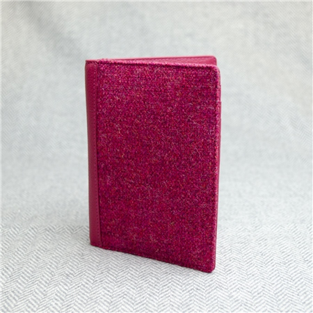Pink Donegal Tweed Salt & Pepper Magee Passport Cover  - Click to view a larger image