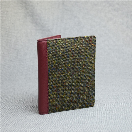 Green Donegal Tweed Salt & Pepper Magee Passport Cover  - Click to view a larger image