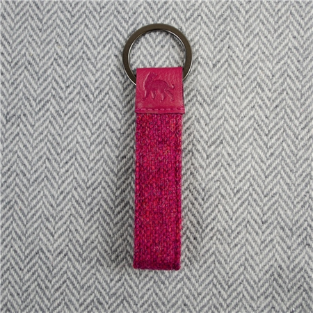 Pink Salt & Pepper Magee Keyring  - Click to view a larger image