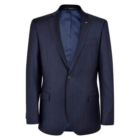 Navy pencil stripe 2-Piece Classic Fit Suit  - Click to view a larger image