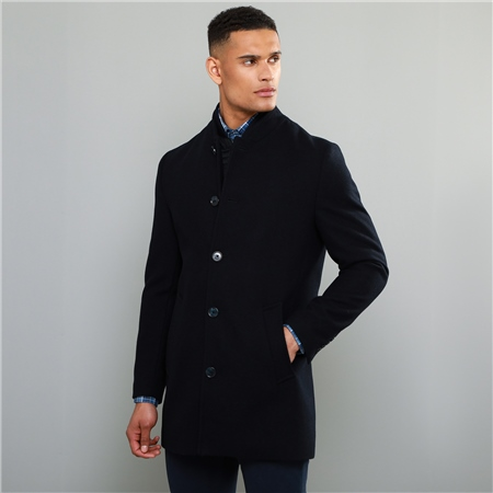 Navy Liskeeran Mouflon Car Coat  - Click to view a larger image
