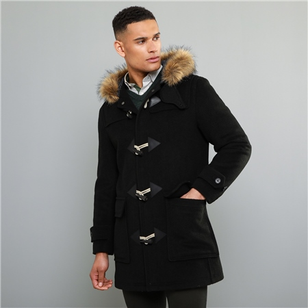Olive Moross Mouflon Duffle Coat  - Click to view a larger image