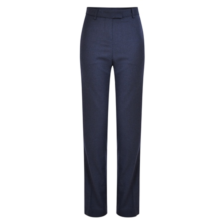 Navy Aria Check Trousers  - Click to view a larger image