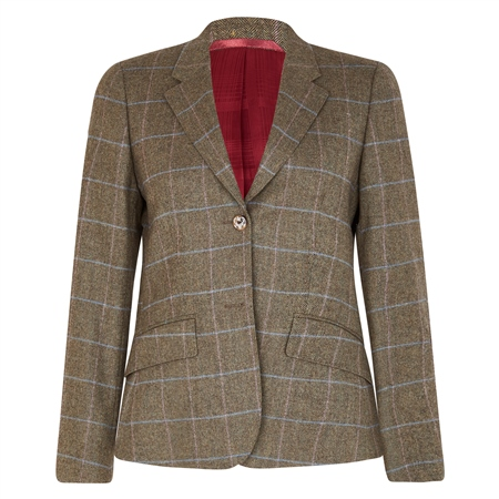 Green Alicia Check Donegal Tweed Jacket  - Click to view a larger image