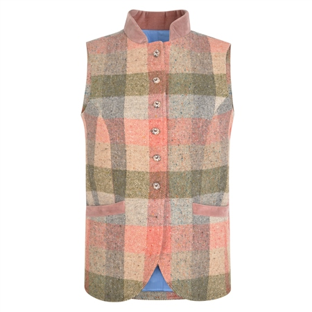 Patchwork Georgie Salt & Pepper Donegal Tweed Waistcoat  - Click to view a larger image