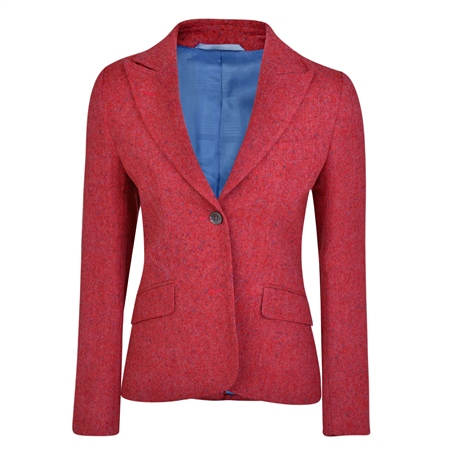 Hot Pink Lily Donegal Tweed Jacket  - Click to view a larger image