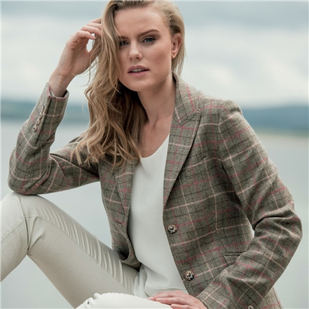 Light Green Lily Country Check Tweed Jacket  - Click to view a larger image