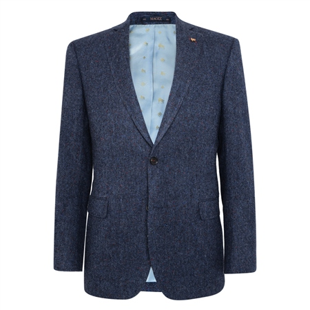 Navy Salt & Pepper Donegal Tweed Classic Fit Jacket 1