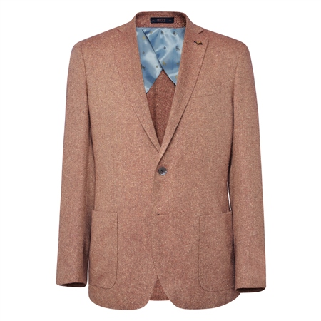 Rust & Oat Easky Herringbone Tailored Fit Jacket  - Click to view a larger image
