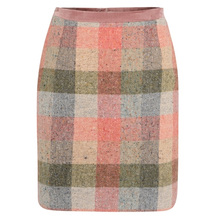 Patchwork Carey Salt & Pepper Donegal Tweed Skirt  - Click to view a larger image