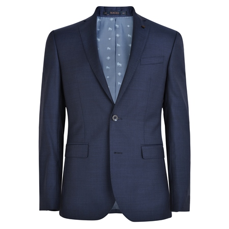 Navy Micro-Fine Weave Tailored Fit Suit  - Click to view a larger image