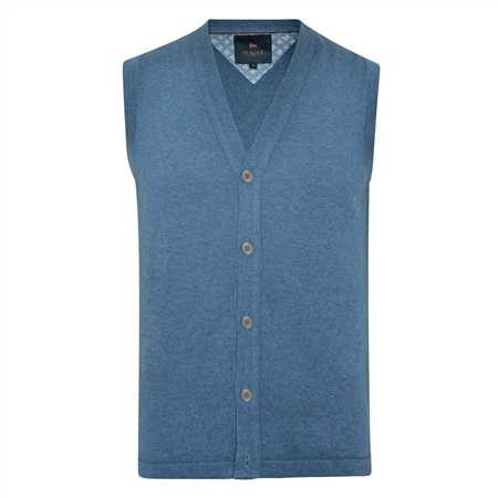 Teal Kilgole Knitted Waistcoat  - Click to view a larger image