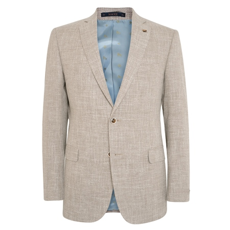 Sandy Basket Weave Classic Fit Jacket  - Click to view a larger image