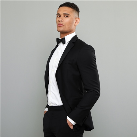 Black Notch Lapel 2-Piece Tailored Fit Dinner Suit  - Click to view a larger image