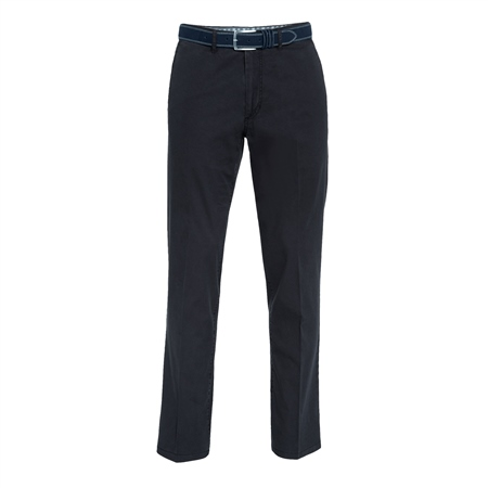 Navy Dungloe Washed Classic Fit Trouser  - Click to view a larger image