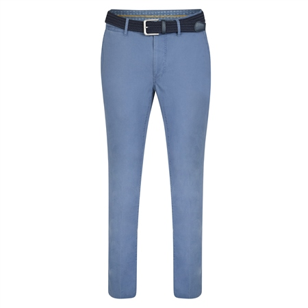 Blue Dungloe Washed Classic Fit Trouser  - Click to view a larger image