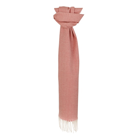 Pink Herringbone Scarf  - Click to view a larger image