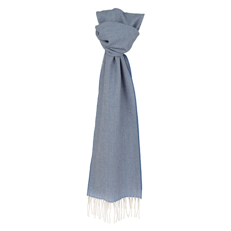 Blue Herringbone Scarf  - Click to view a larger image