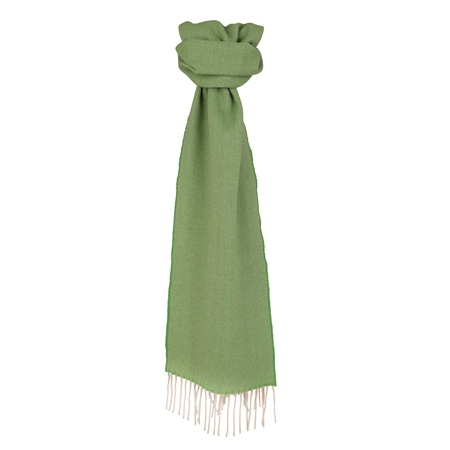 Green Herringbone Scarf  - Click to view a larger image