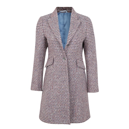 Multicoloured Grace Tailored Fit Coat  - Click to view a larger image
