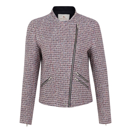 Multicoloured Ards Biker Jacket  - Click to view a larger image