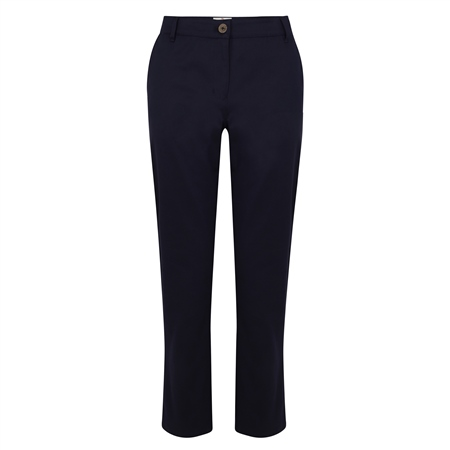 Navy Sandy Cropped Tailored Fit Trousers  - Click to view a larger image