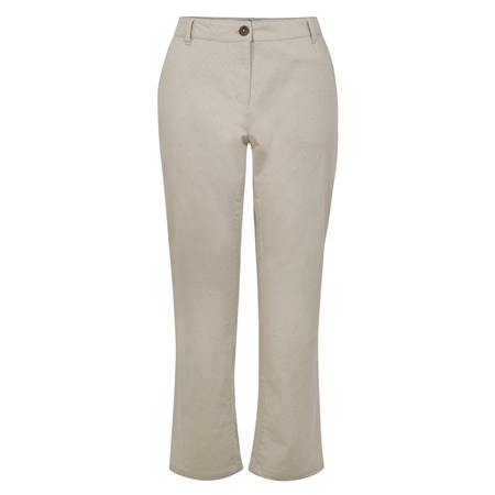 Beige Spot Sandy Washed Cropped Trousers  - Click to view a larger image
