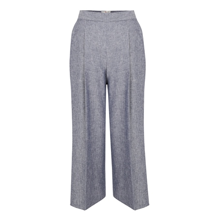 Blue Willow Cropped Trousers  - Click to view a larger image