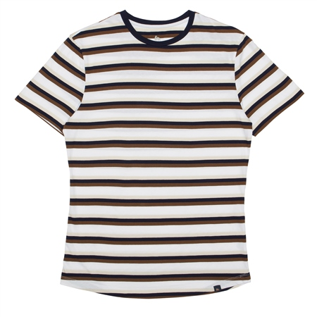 Striped Clogher Plain T-Shirt  - Click to view a larger image