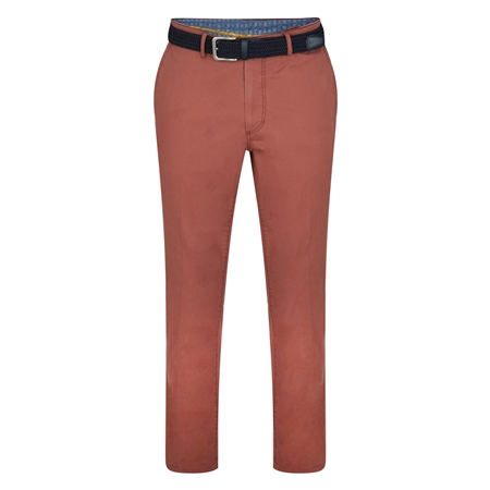 Red Dungloe Washed Classic Fit Trouser  - Click to view a larger image