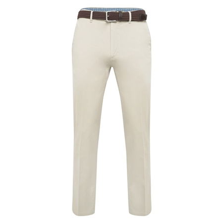 Light Beige Dungloe Washed Classic Fit Trouser  - Click to view a larger image