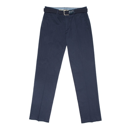 Midnight Navy Dungloe Classic Washed Classic Fit Trousers  - Click to view a larger image