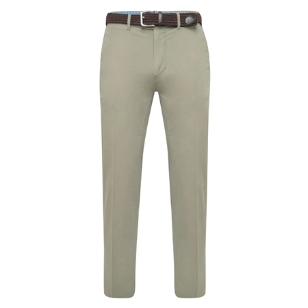 Light Olive Dungloe Washed Classic Fit Trouser  - Click to view a larger image