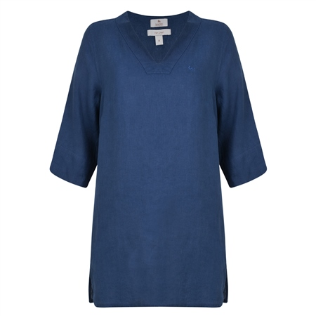 Ella Washed Irish Linen Tunic Shirt  - Click to view a larger image