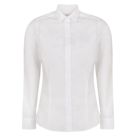 White Hannah Jacquard Classic Fit Shirt  - Click to view a larger image