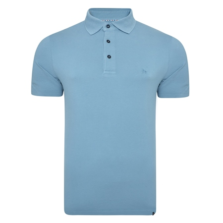 Blue Marfagh Pique Classic Fit Polo Shirt  - Click to view a larger image