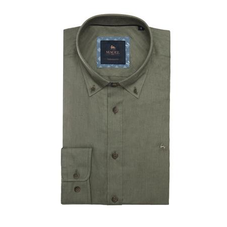Safari Green Rarooey Tailored Fit Shirt  - Click to view a larger image