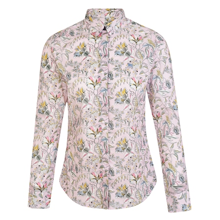 Pink Tracy Kew Road Tana Lawn Liberty Print Tailored Fit Shirt  - Click to view a larger image