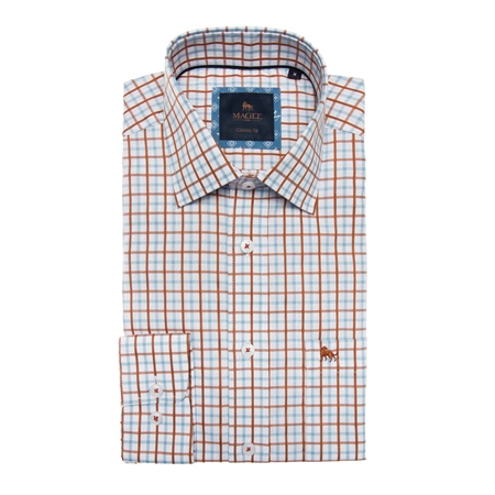 Multicoloured Tullagh Grid Check Classic Fit Shirt  - Click to view a larger image