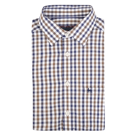 Multicoloured Tullagh Gingham Check Classic Fit Shirt  - Click to view a larger image