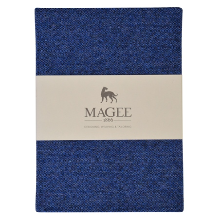 Blue Donegal Tweed Magee Note Book A5  - Click to view a larger image
