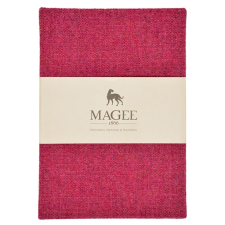 Pink Donegal Tweed Magee Note Book A5  - Click to view a larger image