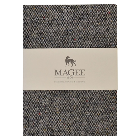 Grey Donegal Tweed Notebook A6  - Click to view a larger image