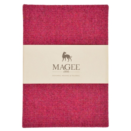 Pink Donegal Tweed Magee Note Book A6  - Click to view a larger image