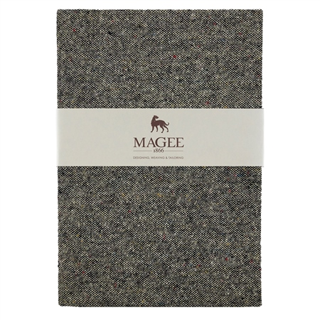 Grey Donegal Tweed Magee Note Book A4  - Click to view a larger image