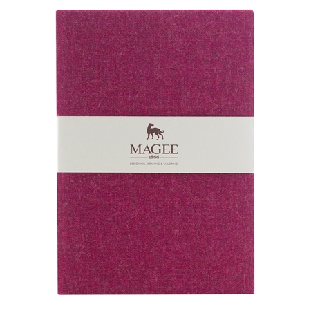 Pink Donegal Tweed Notebook A4  - Click to view a larger image