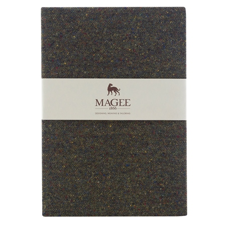 Green Donegal Tweed Magee Note Book A4  - Click to view a larger image